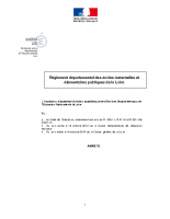 Règlement départemental des écoles maternelles et élémentaires publiques de la Loire
