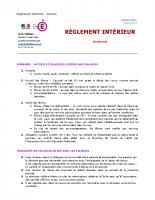Règlement intérieur 2020-2021
